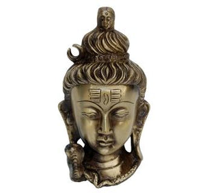 Shiva Face Wall Hanging Brass Statue
