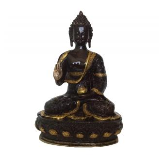 Sitting Buddha Statue of Brass India made crafts