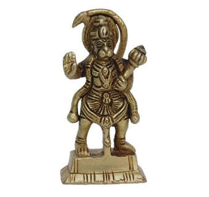 Small Statue of Brass Lord Hanuman