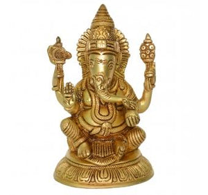 Statue of Lord Ganesha in Antique Finish