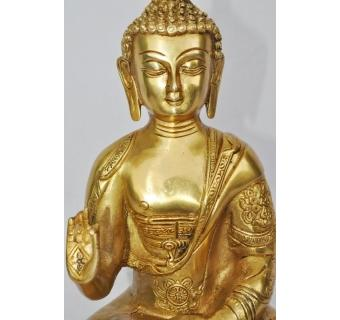 Stylish fabulous hand made brass metal Lord Buddha frightening statue