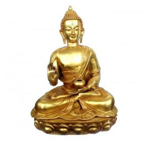 Unique Sculpture of Lord Buddha in Antique Finish