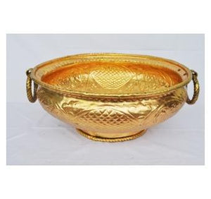 Urli of brass metal a beautiful handmade cooking pot