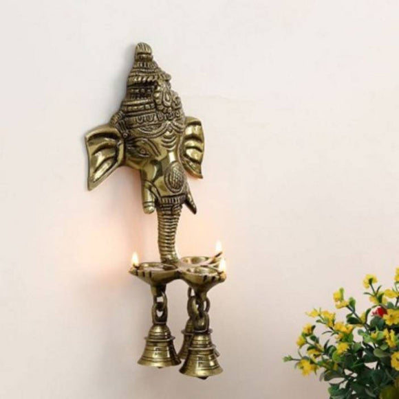 Wall Hanging Three Diya Oil Lamp Showpiece