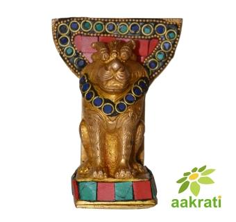 Table Card Holder with lion statue - showpiece for your home and office table