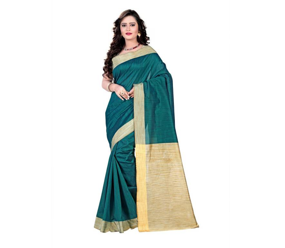 E-Vastram Woven Fashion Cotton, Silk Saree  (Green)