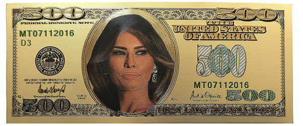 $500 First Lady Melania Trump 24kt Gold Bill