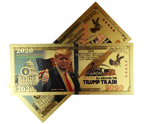 All Aboard The Trump Train 2020 24K Gold Bill