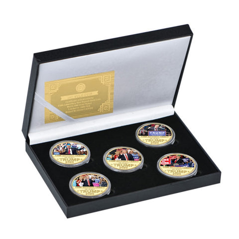 Limited Edition Trump 5 Piece Coin Set