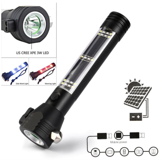 Solar Power Led Flashlight