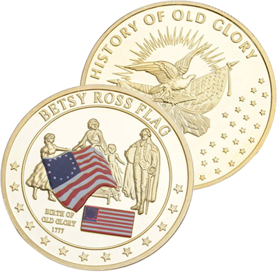Betsy Ross Flag Coin