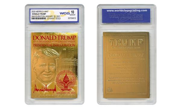 Trump 2021 Inauguration Signature Card