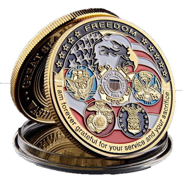 FreeDom Military Gold Coin