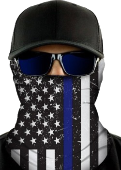 Thin Blue Lines Face Shield