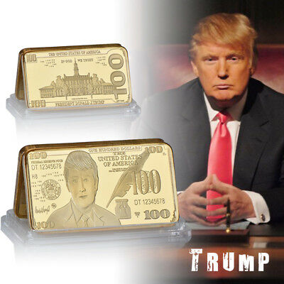 Trump $100 Gold Bar