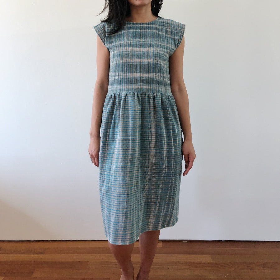 aurora dress in agave