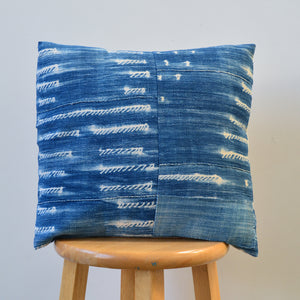 Shibori Indigo Pillow XIX