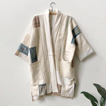 ivory patchwork coat