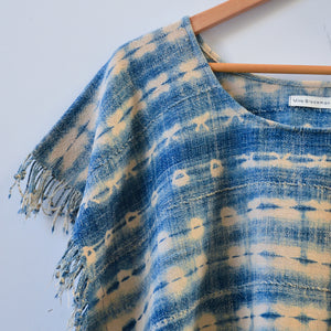 Light Shibori Tassel Top