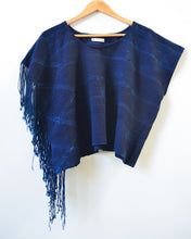 Shibori Midnight Tassel Top