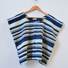 Striped Indigo Box Top