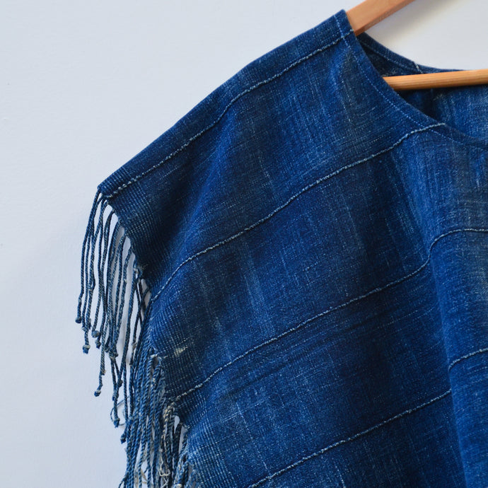 Distressed Midnight Tassel Top