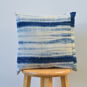 Shibori Indigo Pillow VI