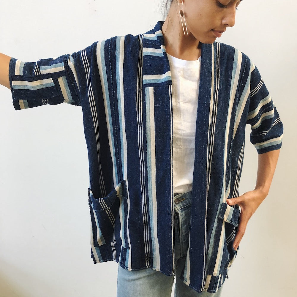 indigo striped jacket IV