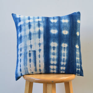 Shibori Indigo Pillow I