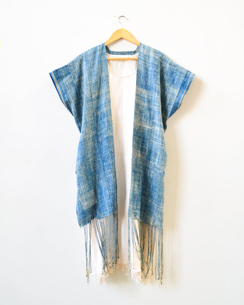 Light Indigo Tassel Vest