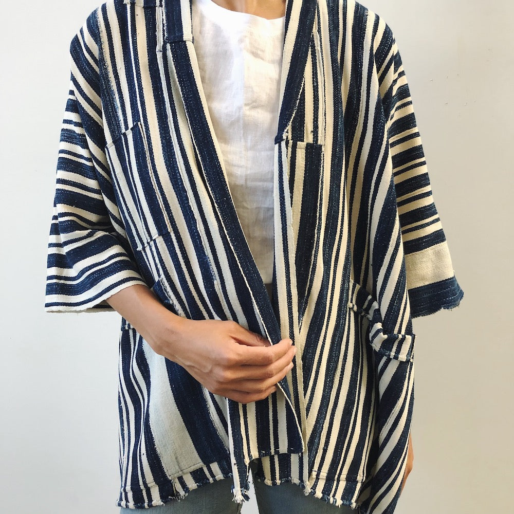 indigo striped jacket III