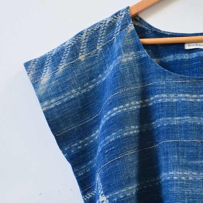Rainy Indigo Box Top