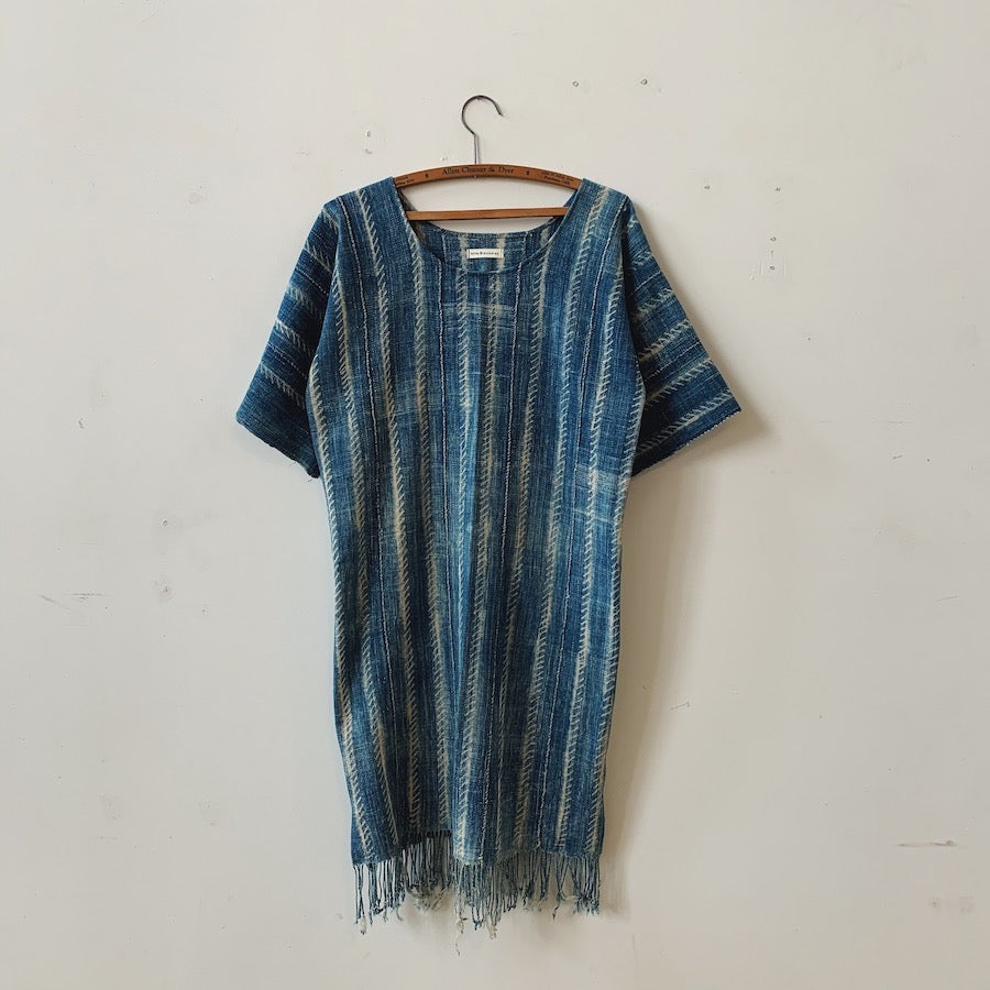mundaú shibori shift dress
