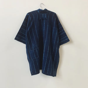 abuja midnight shibori coat
