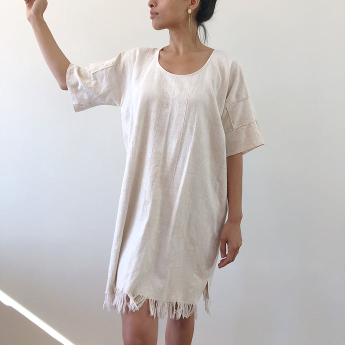 guarapiranga ivory shift dress