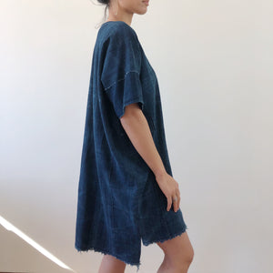 itumbiara indigo shift dress