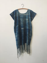 askja indigo tassel dress
