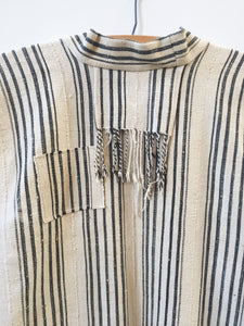 ivory striped coat I
