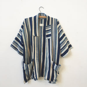 indigo striped jacket II