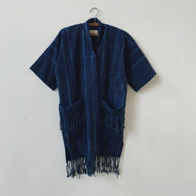 orthon midnight shibori coat
