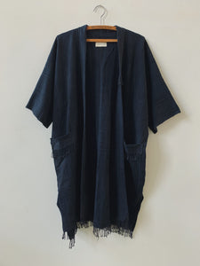 rukwa midnight tassel coat