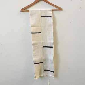 ivory striped mudcloth scarf