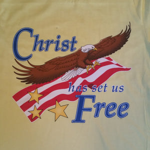 Christ Has Set Us Free Christian Tee Shirt