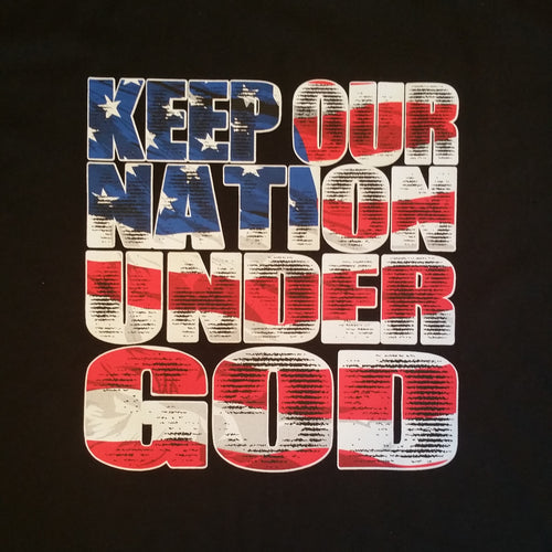 Keep Our Nation Under God Christian Tee Shirt