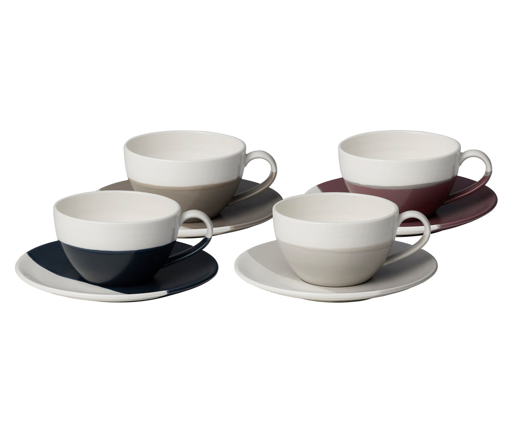 Coffee Studio Cappuccino Cup & Saucer Set of 4