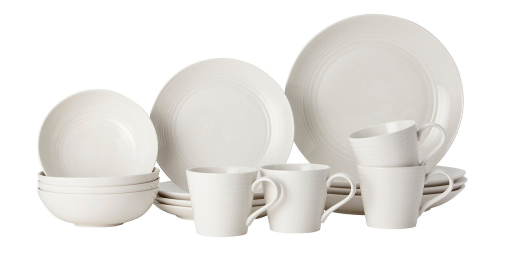 Gordon Ramsay Maze by Royal Doulton White 16 Piece Set