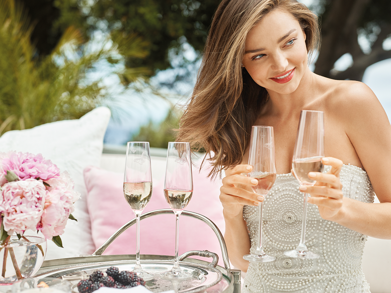 Miranda Kerr for Royal Albert Flute Pair