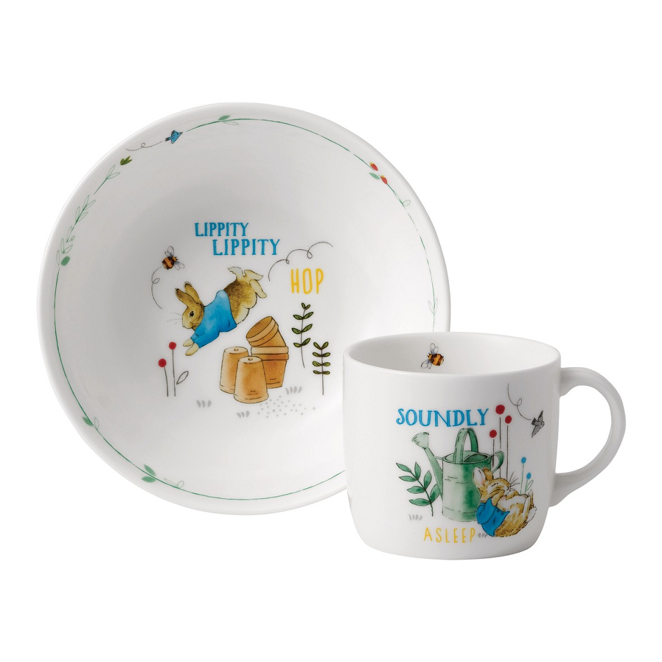 Wedgwood Peter Rabbit Blue 3 Piece Set
