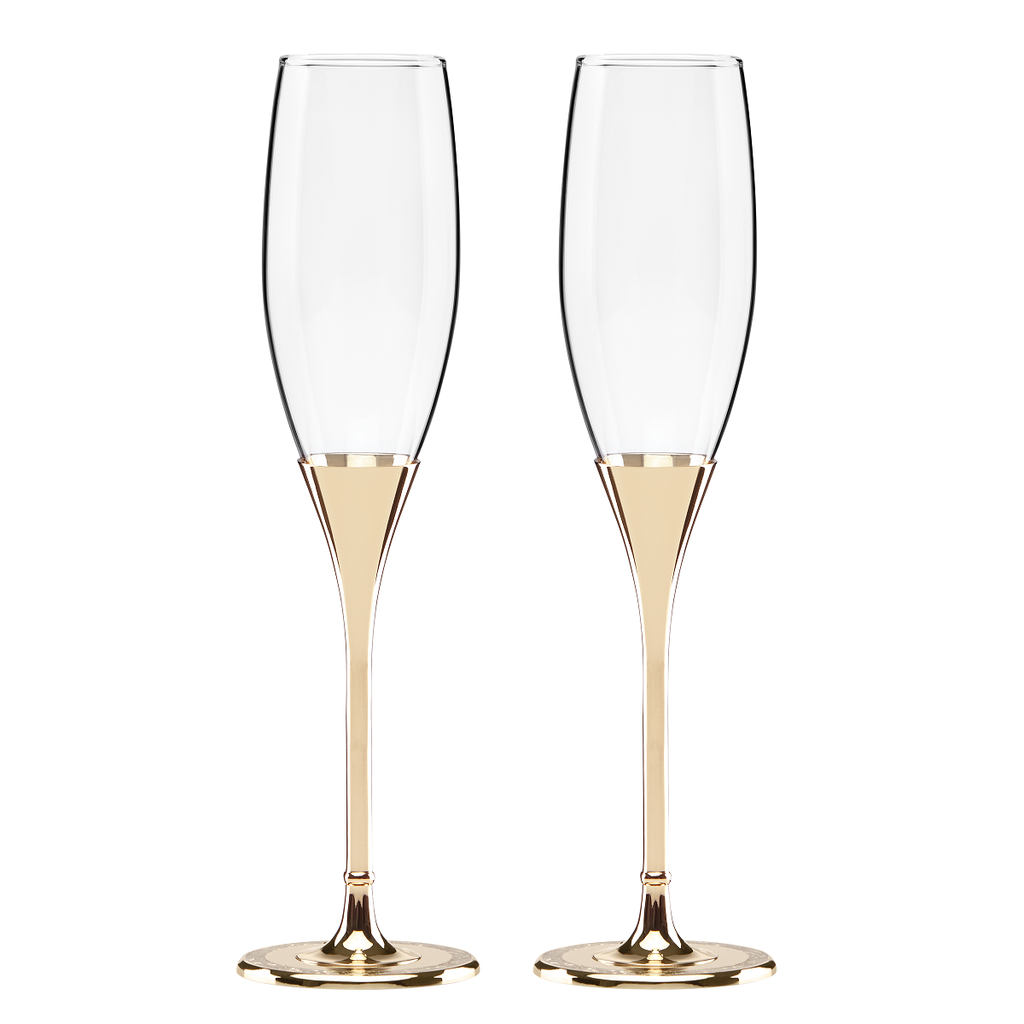 Kate Spade New York Simply Sparkling Flute Pair Gold