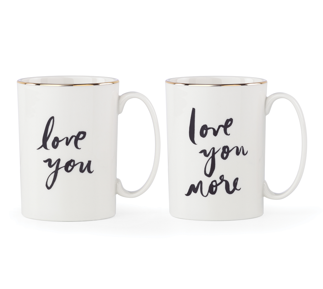 Kate Spade New York Bridal Party Love You Mug Pair